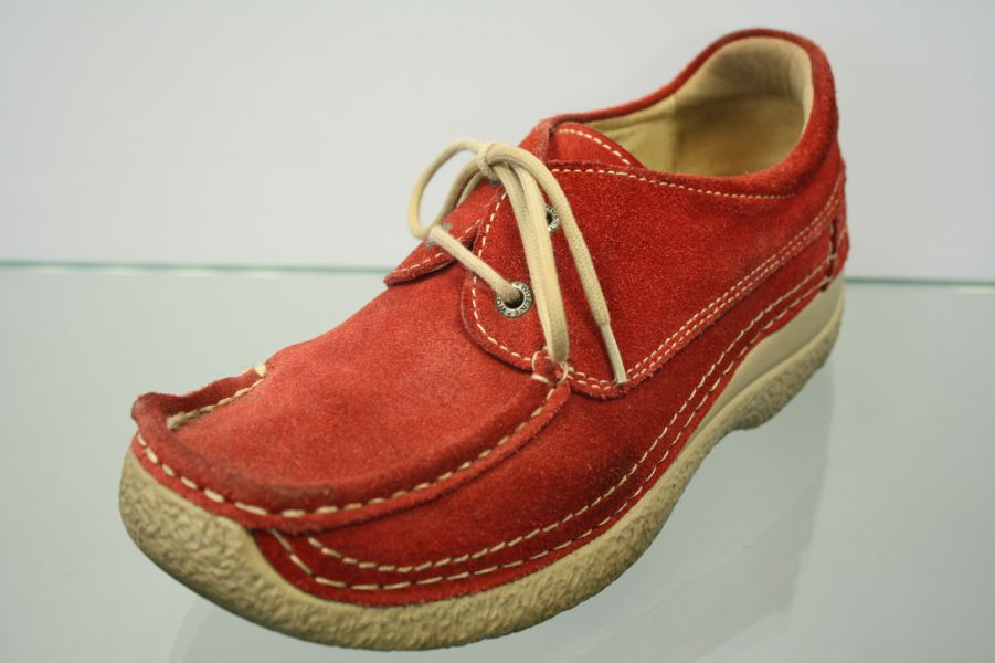 2e66bd7d5d6327 Wolky Shoes Red Nubuck Leather Size 38